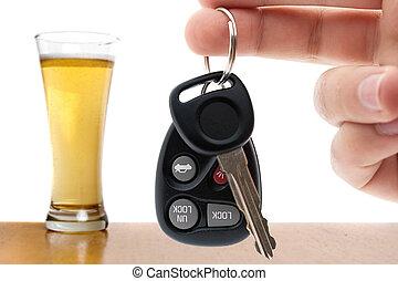 bebida, y, conducción