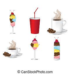 bebidas, ícones