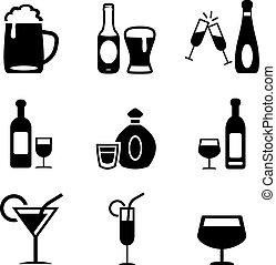 bebidas alcohólicas, iconos