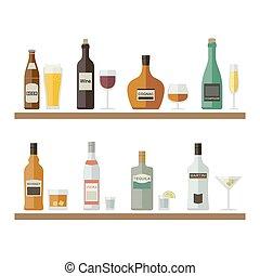 bebidas alcohólicas, y, drinks.