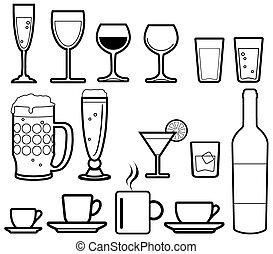 bebidas, iconos