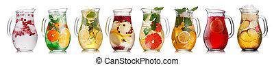 bebidas, jarros, gelado