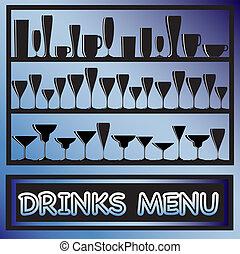 bebidas, menú