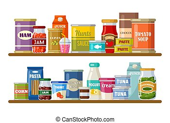 bebidas, supermercado, produtos, prateleiras