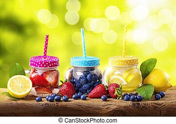 bebidas, verão, detox