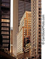 bebyggelse, in, centrum new york
