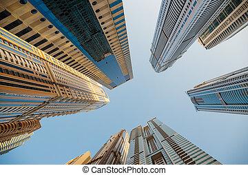 bebyggelse, nymodig, förenad arabiska emirat, dubai