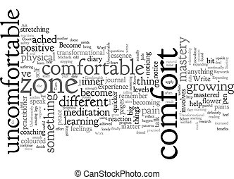 Become Comfortable with the Uncomfortable text background wordcloud concept