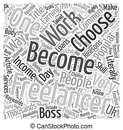 Becoming A Freelancer Word Cloud Concept
