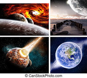 becsapódás, bolygó, meteorkő, hely