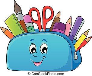 becsomagol, kép, téma, 2, ceruza
