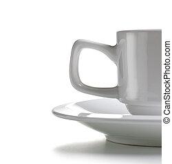 becsuk, kávécserje, kelet, feláll, csésze