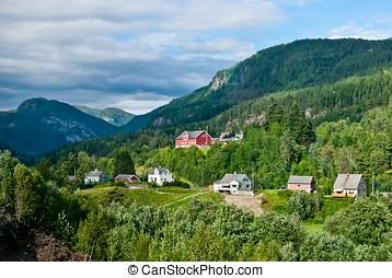 bedöva, naturlig, Norge, landskap