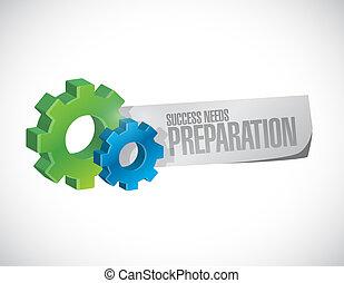 bedürfnisse, begriff, ausrüstung, erfolg, zeichen, vorbereitung