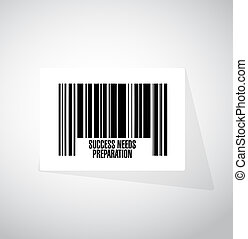 bedürfnisse, begriff, erfolg, barcode, zeichen, vorbereitung