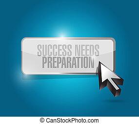 bedürfnisse, begriff, erfolg, taste, zeichen, vorbereitung