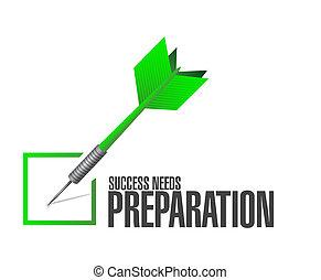 bedürfnisse, begriff, erfolg, wurfpfeil, vorbereitung, zeichen, kontrollieren