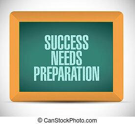 bedürfnisse, begriff, erfolg, zeichen, vorbereitung, brett
