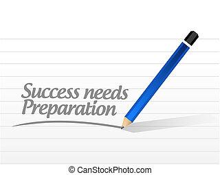 bedürfnisse, begriff, erfolg, zeichen, vorbereitung, nachricht