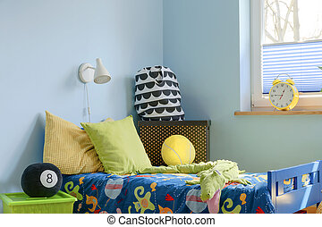 Bed corner inviting to have a rest