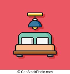 bed flat icon