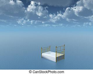 Float - Bed Floats in still water