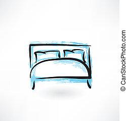 bed grunge icon
