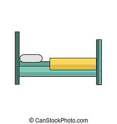 bed icon, colorful design