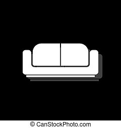 Bed icon flat