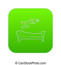 Bed icon green