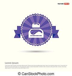 Bed Icon - Purple Ribbon banner