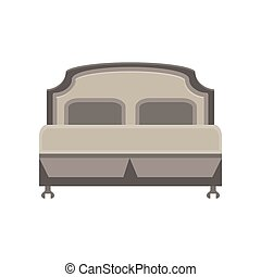 Bed icon vector illustration bedroom room hospital isolated furniture design sleep pillow hotel symbol
