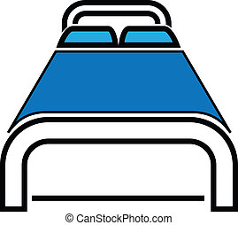 Bold bed icon can be applied to hospitality and travel industry