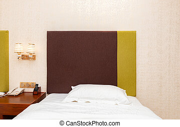 bed in a hotel room