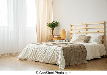 Bed in modern bedroom