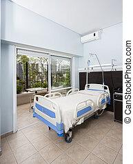 bed, in, rehabilitatie, centrum