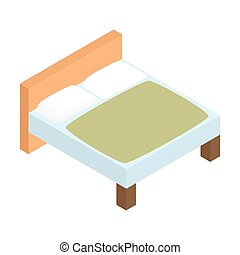 Bed linens isometric 3d icon