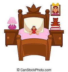 Bed of little girl