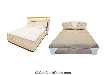 bed under the white background