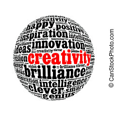 bedaard, collage, tekst, globe, creativiteit, vrijstaand, ...