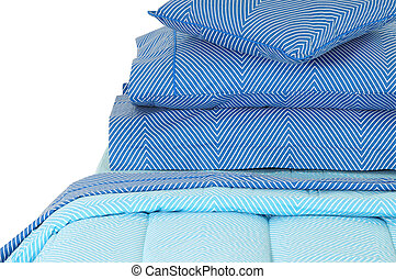 Bedding. Isolated - Blued bed set