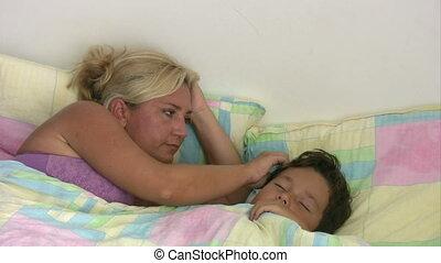 Bedding time for cute boy - Cute child sleeping