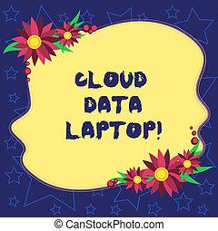 bedeutung, datacenter, begriff, voll, farbe, text, internet, laptop., server, karten, form, ungleich, verbunden, daten, einladung, leer, ads., handschrift, blumen, umrandungen, wolke