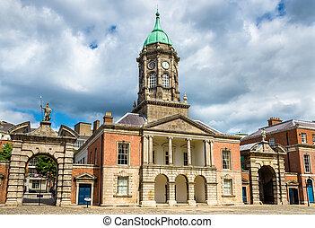 bedford, dublín, -, irlanda, castillo, vestíbulo