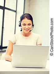 bediener, laptop, helpline, edv