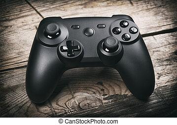 bedieningshendel, videospel, controller.