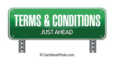 bedingungen, und, krankheit, straße zeichen, abbildung