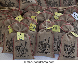 little bags with herbs de provence