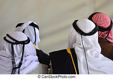 Bedouin Arab Men - Traditional Kufeyas - Bedouin arab men...