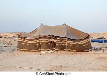 Bedouin tent in the desert of Qatar, Middle East